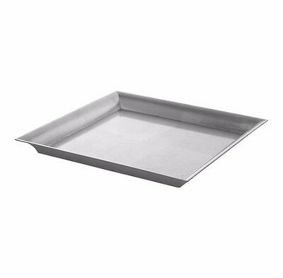 Brushed Silver Square Tray, Silver Candle Tray, Home Decor, Wedding Table Decor