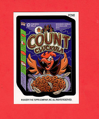2011 Topps WACKY PACKAGES Mini Postcards Card#PCM2 COUNT CLUCKULA monster cereal