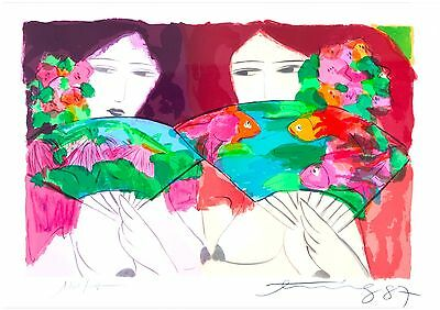 Walasse Ting - Limited Edition Lithograph