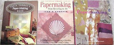 PAPERMAKING CREATE YOUR OWN BEAUTIFUL PAPER  x  3 books