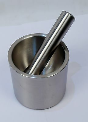 Heavy Duty Stainless Steel Mortar and Pestle Pedestal Bowl Garlic Pugging Pot