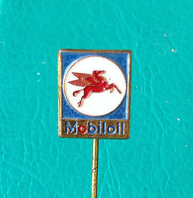 MOBILOIL oil company and their logo vintage pin badge - Producer R SOUVAL WIEN