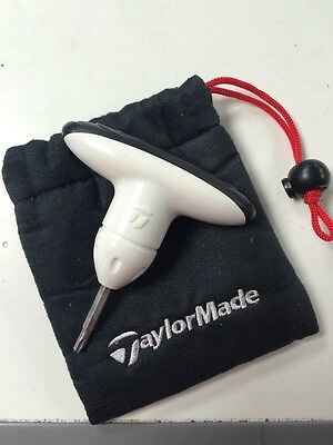Brand New White Taylormade Adjustment Wrench Tool with drawstring case