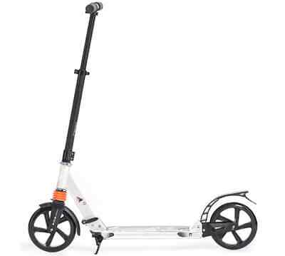 Adult and Kids all round easy use & commute kick/Push Scooter white