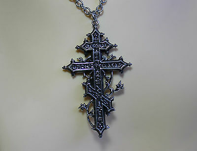 Alchemy Gothic Balkan Revenant's Cross Pendant Pewter Silver Wiccan Pagan