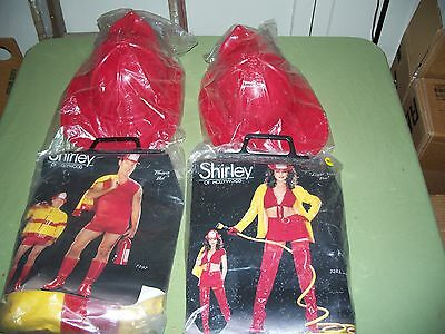2 Shirley of Hollywood New Men & Women  HIs & Hers Fireman Costume