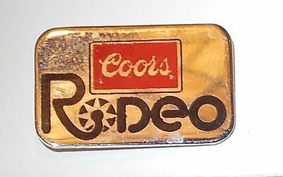 """Coors Rodeo Hat Pin Ale Lapel Pin 1"""" inch Vintage   Beer"""
