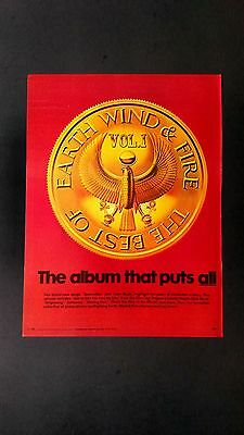 Earth, Wind & Fire  Vol.1  (1978)    Rare Original Print Promo Poster Ad