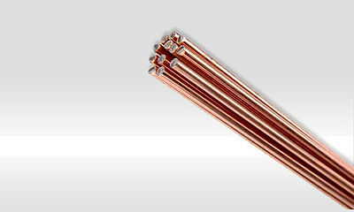 ⌀2mm Copper silver brazing rods 5% Ag.Copper silver rods 5pcs x 50cm/500mm.