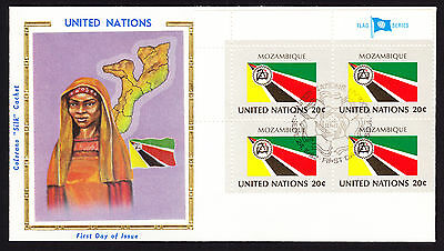 Africa 1982 UN United Nations Mozambique National Flag with Map cachet cover