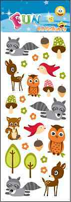 """Beautiful Fun Stickers """" Forest Friends """" For Cards & Craft"""
