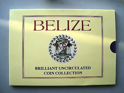 Belize Uncirculated coin set 1992