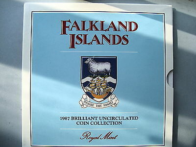 Falkland Islands Uncirculated coin set 1987