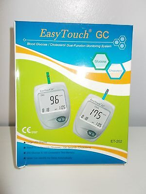 Easy Touch GC Blood Glucose Cholesterol Duel Function Monitoring System NEW