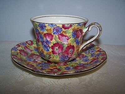 Beautiful Royal Winton Chintz - Royalty Pattern Cup & Saucer