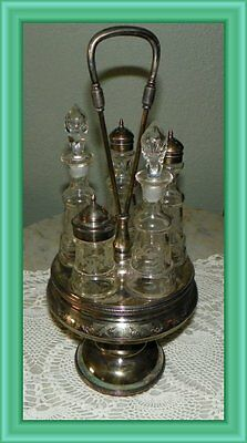 Antique 1878 Ca. Silverplate Condiment Set