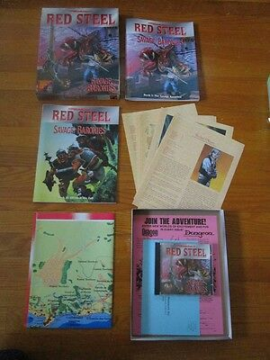 TSR Advanced Dungeons & Dragons Red Steel Savage Baronies Campaign AD&D D&D
