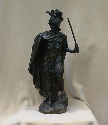 Antique Bronze Statue of Roman Commander Legate Legatus Tribune Consul