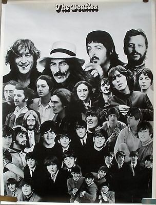 Rare The Beatles Late 1970's Vintage Original Music Poster