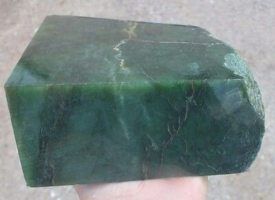 3.66 LB BC Canada Green Jade block  Rough Specimen