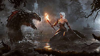 Poster 42x24 cm The Witcher 3 Wild Hunt Ciri 01