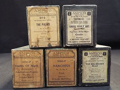 (5) Ampico Piano Rolls The Palms / Shades of Night & 3 More Titles (#34)