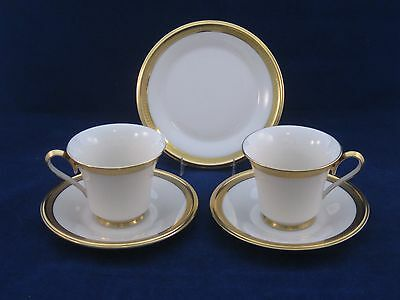 Lenox ARISTOCRAT Cup & Saucer SET OF 2 w/ Bread Plate  Mint Condition