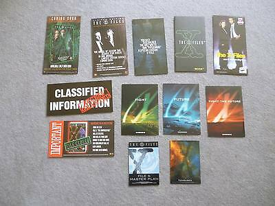 X Files Set of 3 Promo Postcards, 2 cards and several flyers.