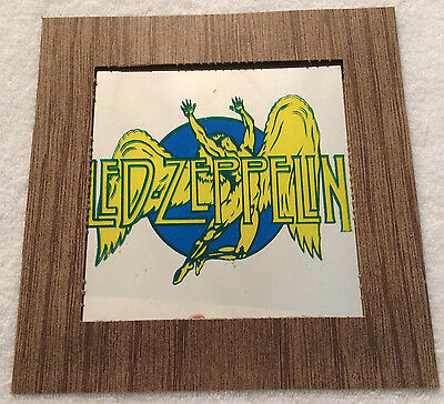 "Led Zeppelin Carnival Mirror Prize Fair Festival 6""x6"" Rare Orig Swan Song Band"