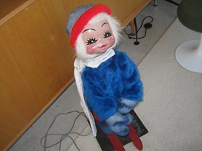 big VTG christmas mechanical animated mannequin figure store display 50s style