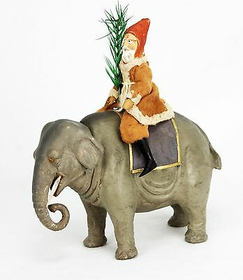 Antique German Santa on Elephant Candy Container ca1910