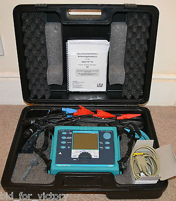 FLUKE LEM Analyst 3Q Power Quality Analyser Energy Monitor Multimeter Voltmeter