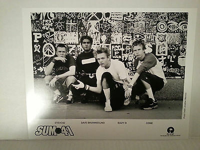 "Sum 41 -  Promo Picture - Rare - 8"" X 10""-Free Shipping"