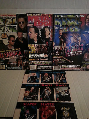 Metallica - Metal Edge Magazines And Trading Cards - Rare- Free Shipping
