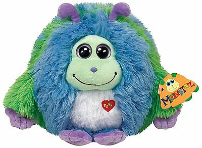 "Ty Beanie Monstaz 5"" Plush - Blue Green Benny"