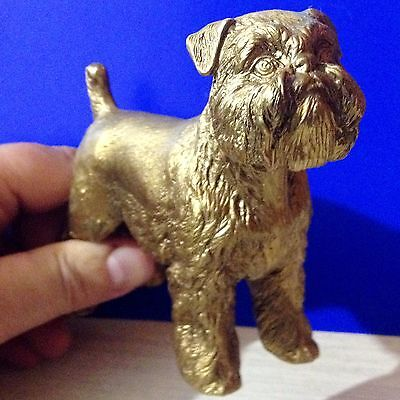 Brussels Griffon bronze figurine dog bronze from Russia collectible figure