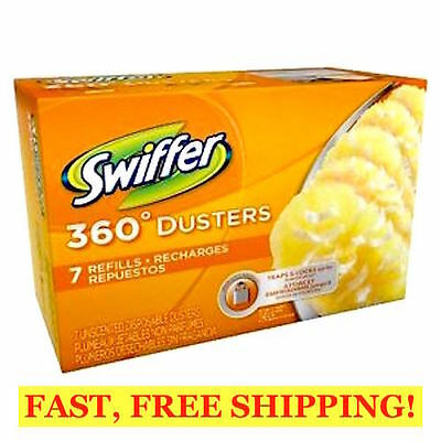 SWIFFER 360 Dusters Refills 7 Count UNSCENTED DISPOSABLE DUSTERS, TRAPS 3X DUST!