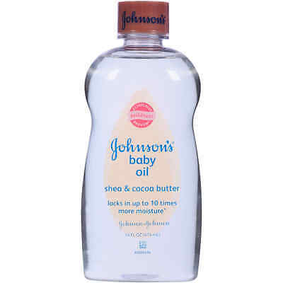NEW!!! Johnson's Baby Oil with Shea Cocoa Butter, 14 Fl. Oz Free Shipping