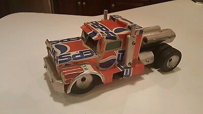 Vintage Hand Made  Pepsi Semi Truck hand made out of pepsi cans