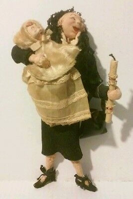Lenci Character Felt Doll: Mother and Child from Chruch Mass