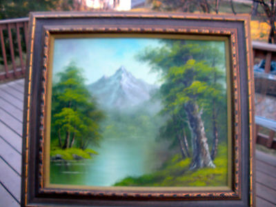 Framed Oil Painting On Canvas -Artist Signed, 'Fredrick' - Hard To Read It