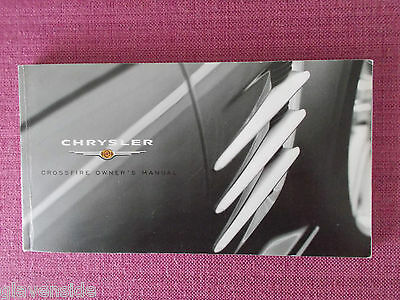 Chrysler Crossfire Coupe & Roadster Owners Manual - Guide - Handbook (Acq 4864)