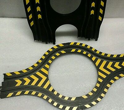 micro scalextric track pieces hairpin & hazard island rally