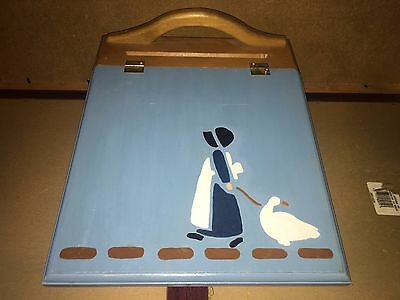 Wooden Lap Tray / Desk Country Scene 14x11""