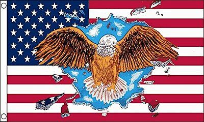 5ft x 3ft (150x90cm) USA United States America Eagle Bird Of Prey Polyester Flag
