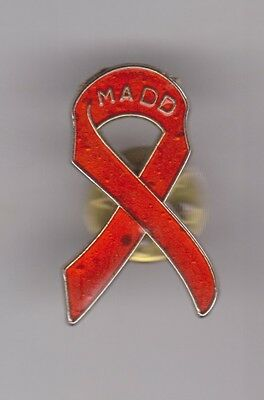 MADD Mothers Against Drunk Driving Ribbon Pin