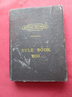 British Railways Rule Book 1950 + Standardisation Booklet and updated rules  HB