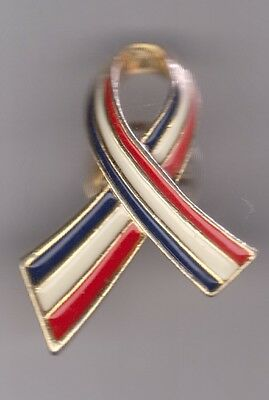 RED WHITE AND BLUE RIBBON Pin