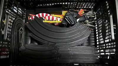 aurora slot car track,40+ pieces and controllers,barriers etc ,overseas post ok