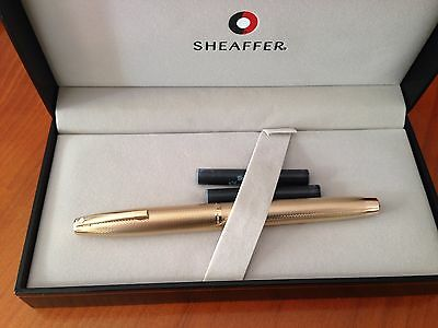 Stylo Plume Sheaffer  Plume Or 14 K Gold Electroplated Cassing
